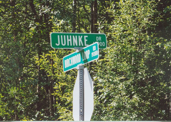 Photo of Juhnke Street Sign in Chugiak, AK